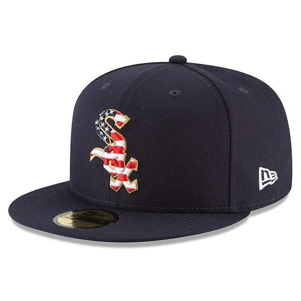 Chicago White 2018 Sox New Era Navy 2018 White Stars & Stripes 4th of July On-Field 59FIFTY 8cfc09