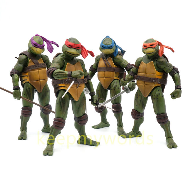 "NECA TMNT Teenage Mutant Ninja Turtles Action Figure 1990 Movie 7/"" PVC Model Toy"