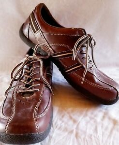 355cf02df7 Kaya Womens Size 9 M Lace Up Shoes Leather Upper Brown Comfort Round ...