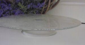 Glas-Etagere-Tortenplatte-Kuchenplatte-Cake-Stand-Schale-auf-Fuss-27-5