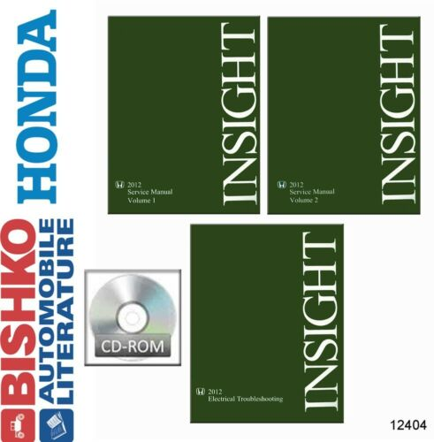 2012 Honda Insight Shop Service Repair Manual CD w// ETM Manual Engine Electrical