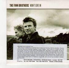 (DJ320) The Finn Brothers, Won't Give In - 2004 DJ CD