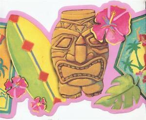 Wallpaper-Border-Tropical-Surf-Shop-Signs-Pink