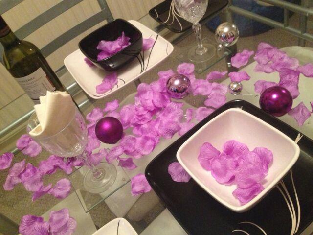 Rose Petals Lilac Purple, Wedding Day Gift Basket Decoration. 250 Petals y5