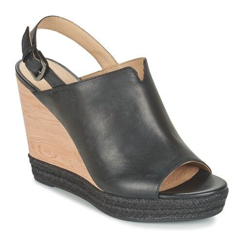 4 Geox Uk Wedges Eu 37 Size Sales Nh01 36 F D Janira Black aa1wU0r