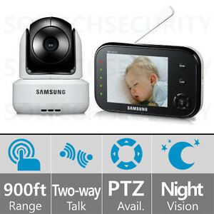 sew 3037w samsung 3 5 inch wireless baby monitor w night vision zoom ptz ebay. Black Bedroom Furniture Sets. Home Design Ideas