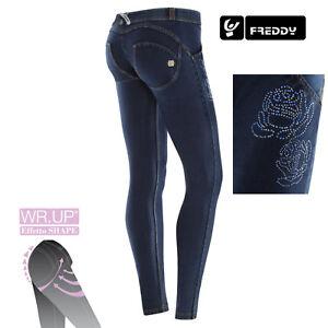 Con Skinny Freddy J0 y Wr Wrup1lj05e Scuro Col up Strass Jeans Floreali ffxCRTwztq