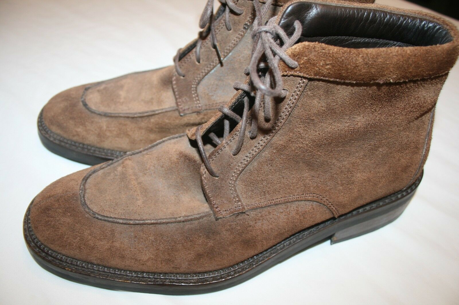 To Boot New York Uomo Brown Suede Stivali Stivali Suede 8.5 Italy Made EUC ebc05d