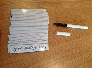 20-Flexible-Magnetic-Dry-Wipe-Label-19mm-X-100mm-amp-Thin-Nib-Black-Dry-Wipe-Pen