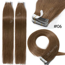 40Pcs 100g Brazilian Virgin Remy Human Hair Extensions Tape In Skin Weft I403