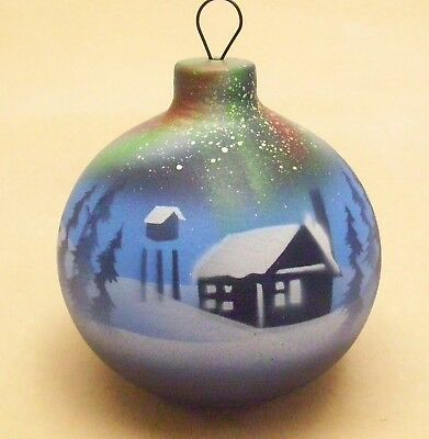 Native American Christmas Ornaments.Cedar Mesa Native American Made Pottery Northern Lights Christmas Ornament Ebay
