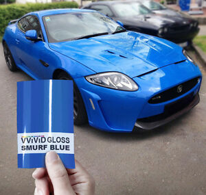 Vvivid 3Mil Gloss Blue Glow In The Dark Vinyl Car Wrap decal