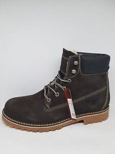Braun 44 Company Warmfutter Leder Am Gr Stiefel Shoe