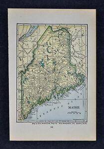 1927 Hammond Map - Maine Portland Bangor Lewiston Augusta