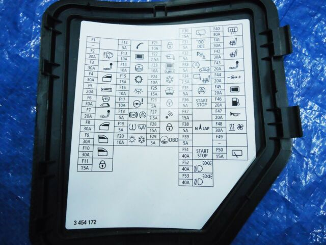2007-2010 MINI COOPER R55 R56 FUSE BOX LABEL TRIM COVER ...