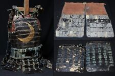 Crescent Moon Armor Edo Period Yoroi Japanese Antique w Sode and Haidate Samurai
