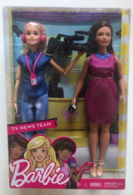 Fantastic Barbie Tv News Team Career Doll Two Piece Set Reporter And Camera Person Download Free Architecture Designs Rallybritishbridgeorg