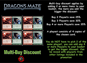 MTG Dragons/' Maze NM Card x 4 Playset Simic Cluestone