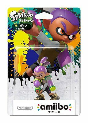 NEW Nintendo 3DS Wii U Amiibo Inkling Boy Purple Splatoon Japan Import F/S