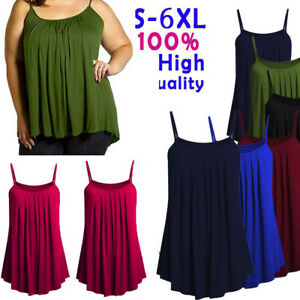 Plus-Size-Summer-Ladies-Women-Loose-Camisole-Ladies-Solid-Color-Tank-Tops-S-6XL