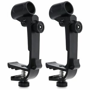 2-Adjustable-Clip-On-Drum-Rim-Shock-Mount-Microphone-Mic-Clamp-Holder-AEC