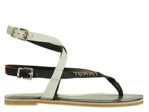 best website fc7bc b67b0 Details zu Damen Sandalen Tommy Hilfiger Iconic Flat Strappy Women Sandals  FW0FW04023-020