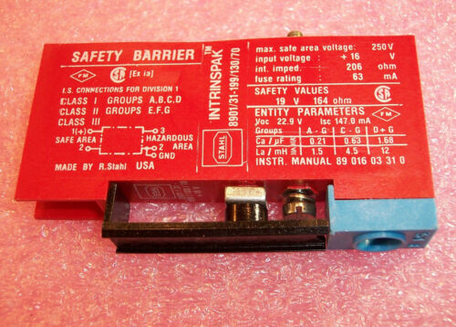 8901//31-199//130//70 STAHL INTRINSIC SAFETY SWITCHING REPEATER SAFTEY BARRIER