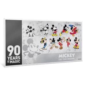 Niue-1-Dollar-Munznote-2018-90-Geburtstag-von-Mickey-Mouse-Silber-ST