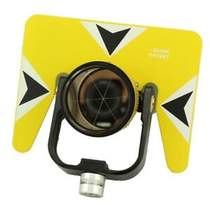 Yellow color single prism  with Bag for total station 5/8x11 thread.