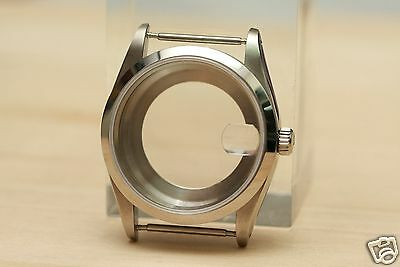 34mm stainless steel oyster case smooth bezel boitier for ETA 2824 movement