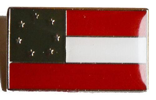 "American Civil War Southern 1st National Flag The /""Stars /& Bars/""  Pin Badge"