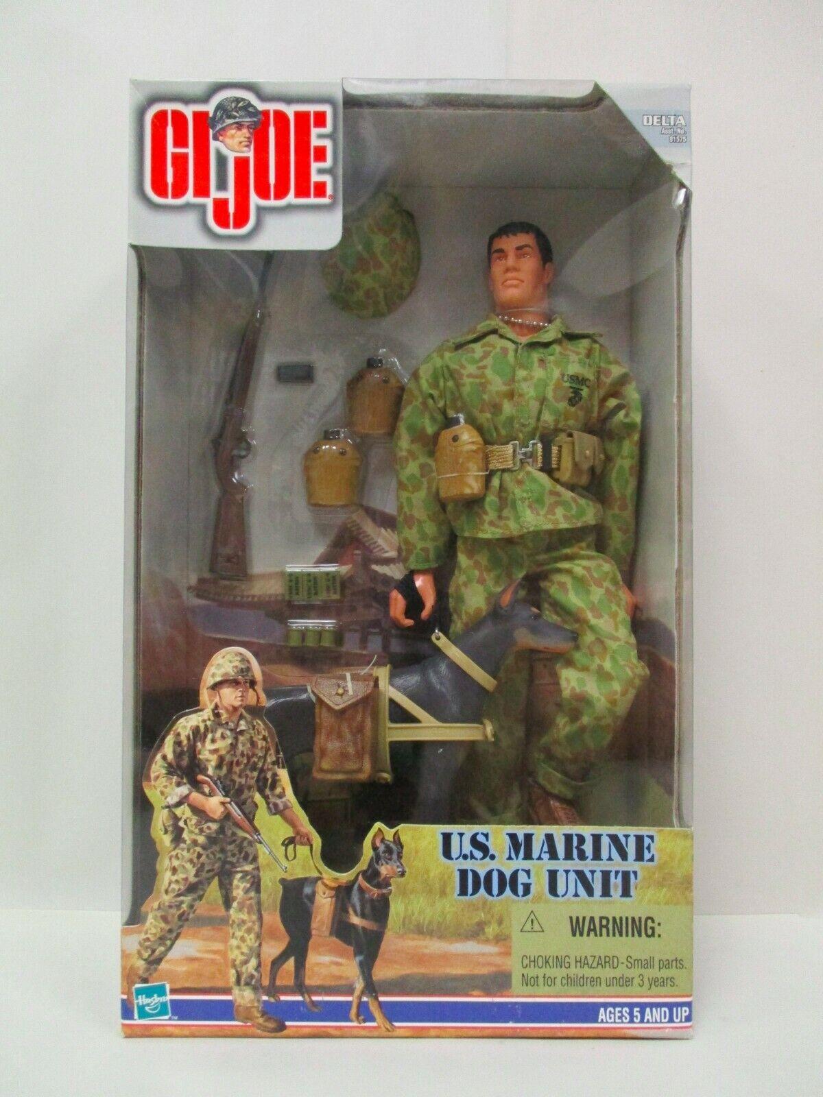 1999 HASBRO 12  era moderna G.I JOE unidad de perro de Marina de EE. UU. 1 6 figura de acción sin usar y en Caja Sellada