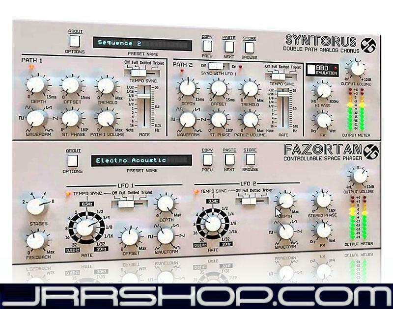 D16 FXtra Fazortan Phaser + Syntorus Chorus Bundle eDelivery JRR Shop