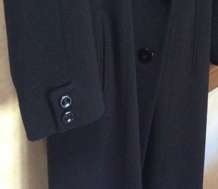 Arnold SCAASI Black Wool Couture Full Length Coat… - image 3