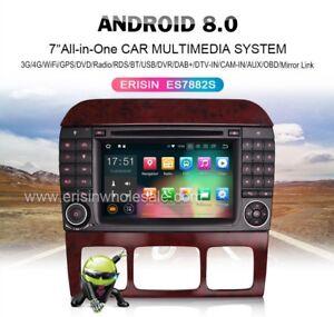 AUTORADIO-7-034-Android-8-0-MERCEDES-CLASSE-S-CL-w220-w215-Navigatore-Comandi-Dvd