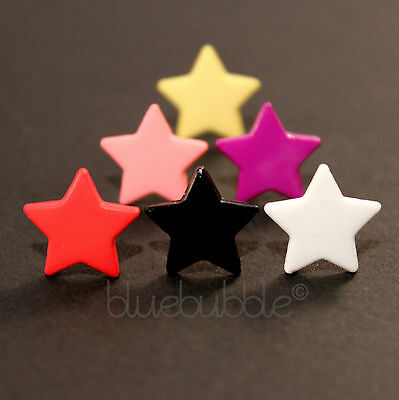 FUNKY BOYS MENS SINGLE 12mm STAR EARRING ROCK COOL BROTHER DAD FUN GIFT EMO PUNK