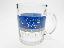 Grand Hyatt Clear Coffee Mug Tea Cup Kaua'i Hawaii Souvenir Hotel Resort & Spa