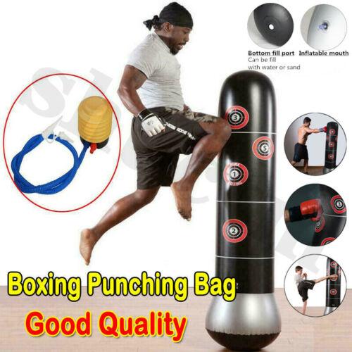KICK Training Punching Bag Inflatable Boxing Column Tumbler Sandbag Kids Adult ⑤