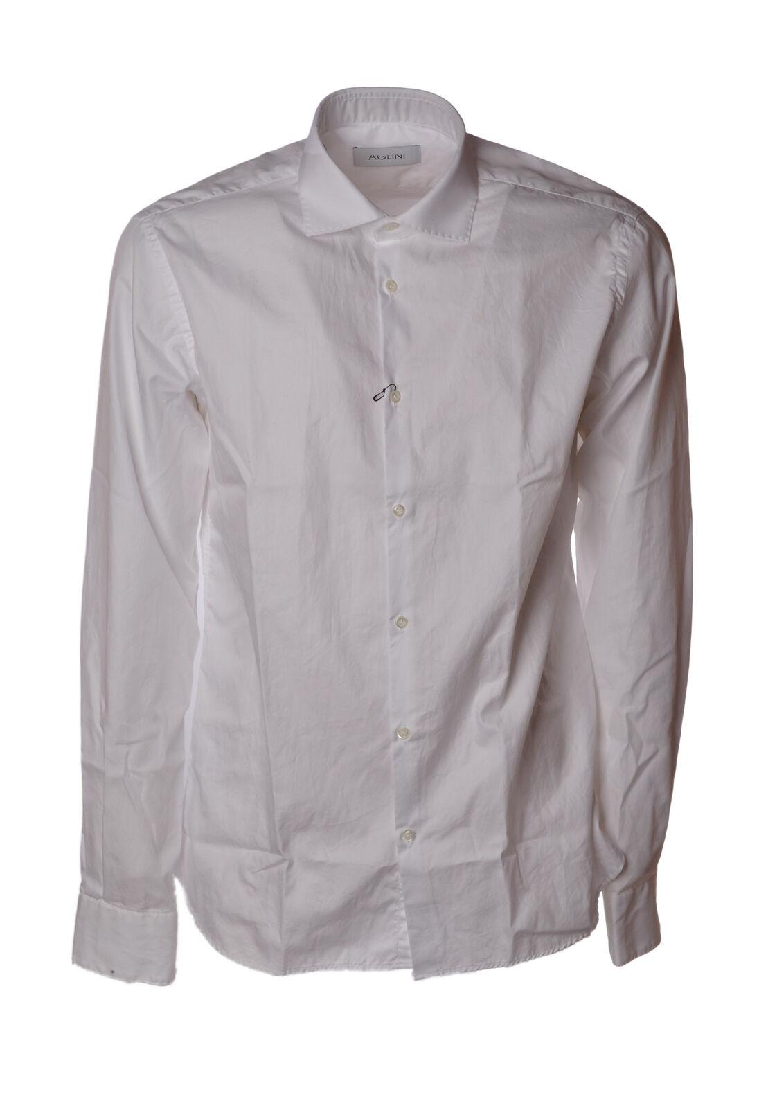 Aglini - Shirts-Shirts - Man - White - 4688113F184121