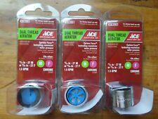 "2 Pcks Danco Dual Thread Sprayrator Chrome 15//16/""-27M or 55//64/""-27F 1.5GPM NEW"