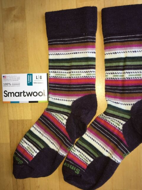 Smartwool Women/'s Margarita Ultra Light Cushion Socks Bordeaux Heather Sz S or M