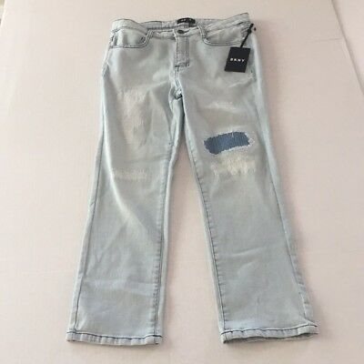 DKNY Jeans Capri Womens Black Cotton Blend Utility Cargo Pocket NEW 5458