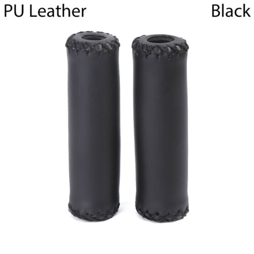 Bike Handle Grips Handlebar Cover Outdoor Cycling Bicycle PU Leather Grip