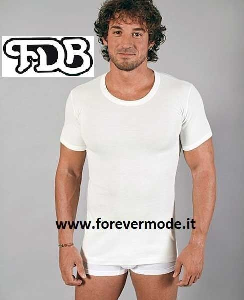 3 Men's T-Shirt FDB Sleeve short with Cotton on Leather and Wool out Art. 040 Mc