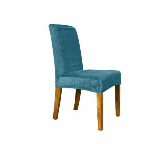1//4//6//8X Spandex Fox Pile Stretch Wedding Banquet Velvet Chair Cover Home Decor