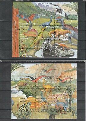 1999 Diszipliniert Grenada Mnh Angenehme SüßE Full Set Dinosaurs