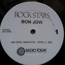 Bon Jovi - Mega Rare Live in Concert Radio Show 2x Vinyl LP 1987 + Cue Sheets