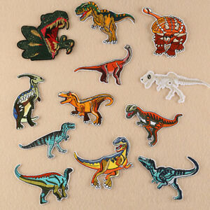 12pc-Lot-Dinosaur-Embroidered-Patches-Sew-Iron-On-Clothes-Badge-Fabric-Applique