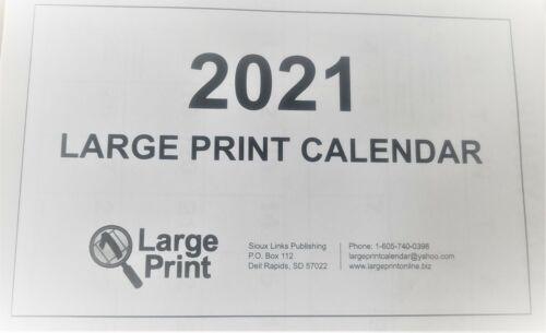 2021 LARGEPRINT CALENDAR