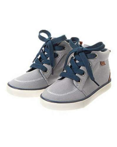 NWT Gymboree Boys Sunny Sports Gray Mid Top Sneakers Size 9 10 11 12 13 /& 2